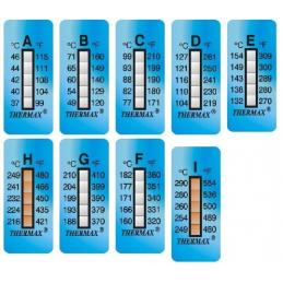 Ruban indicateur thermosensible Thermax 5 températures