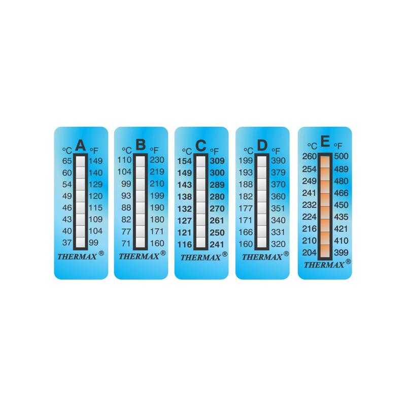 Ruban indicateur thermosensible Thermax 8 températures