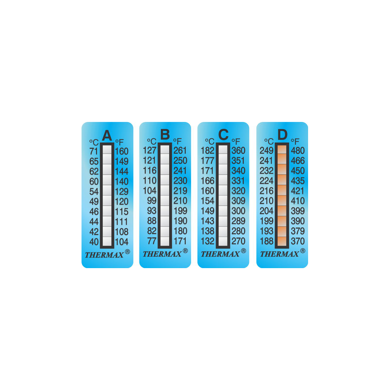 Ruban indicateur thermosensible Thermax 10 températures